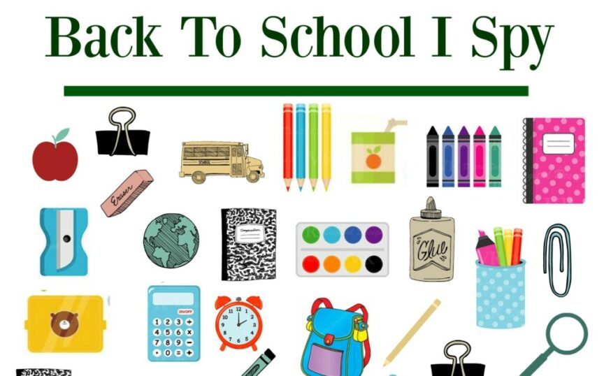 It's time for Back to School! Here's a fun and easy way toget ready with a new I Spy printable! #kidsactivities #freelearningfun