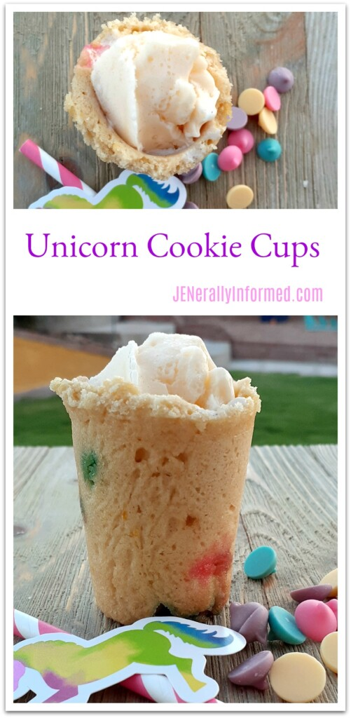 Bring magic to any day with this fun to make unicorn cookie shot cups recipe!