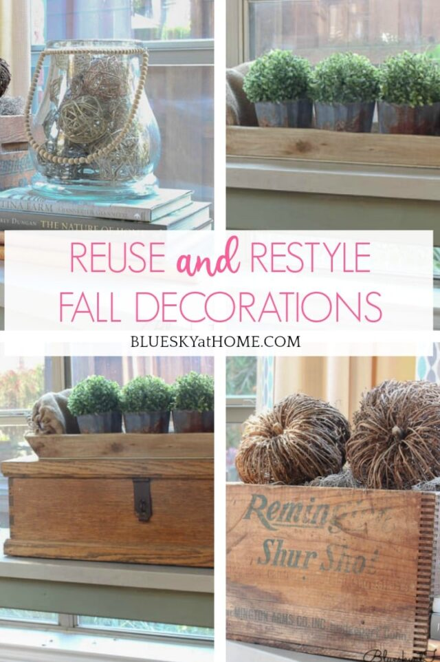 How to Easily Reuse and Restyle Fall Decorations from Bluesky at Home.