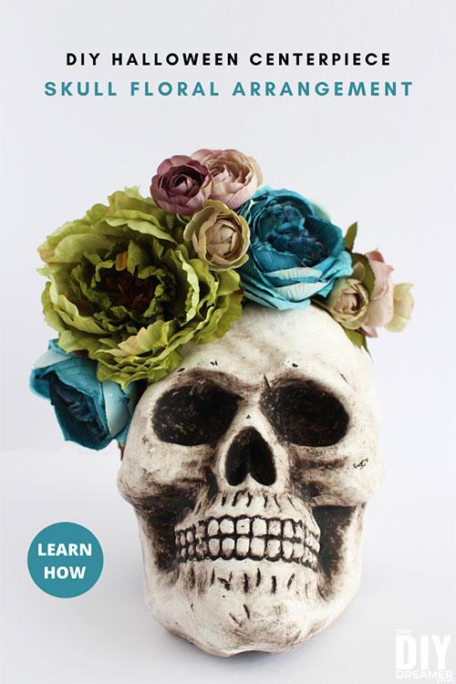Halloween Centerpiece – DIY Skull Floral Arrangement from DIY Dreamer.