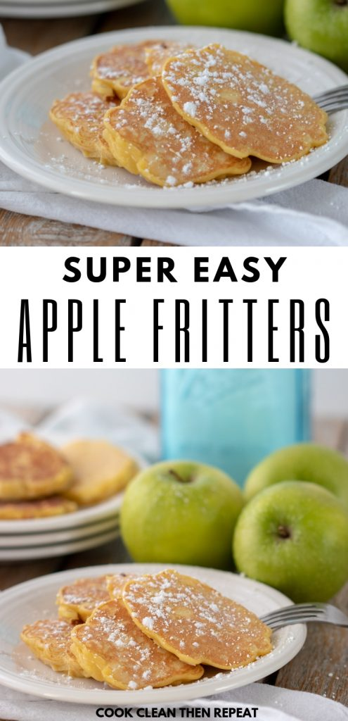 Easy Apple Fritters Recipe from Cook-Clean-Then Repeat.
