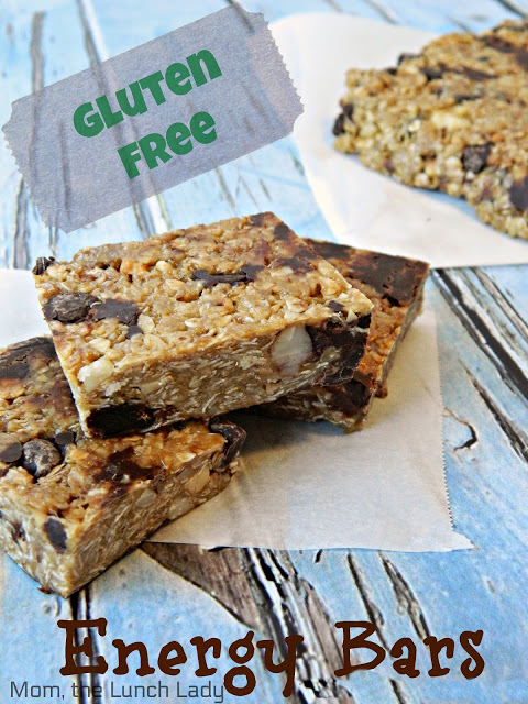 Homemade Gluten-Free Energy Bars From Mom, The Lunch Lady.