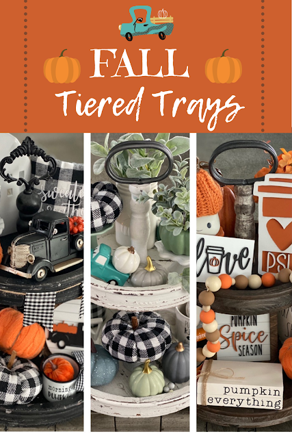 My Fall Tiered Trays from Living On Cloud Nine.