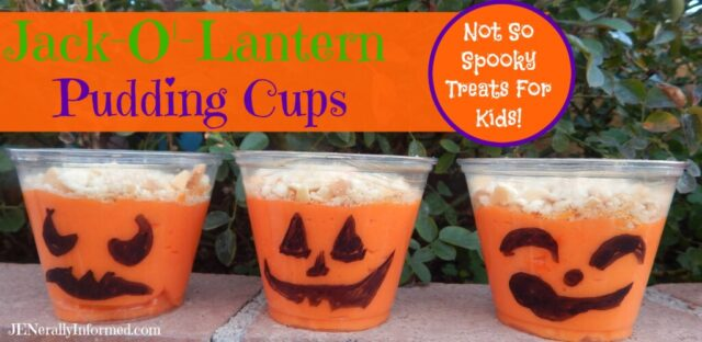 Jack-O'- Lantern Pudding Cups