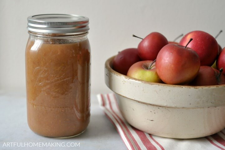 Instant Pot Applesauce with Cinnamon from Artful Homemaking.