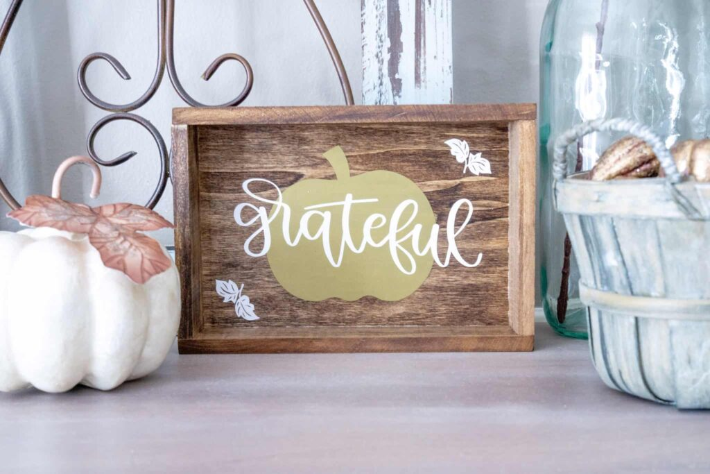DIY Fall Sign Using Cricut, Plus a Bonus from Home, Health &  Heart.