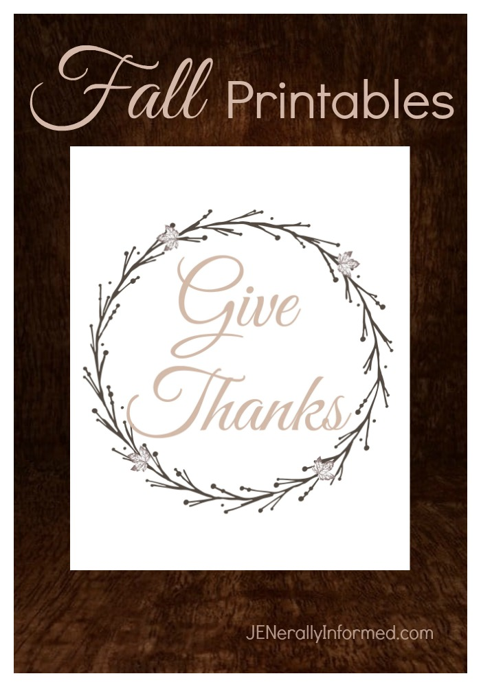 Decorate your space with these free and adorable Give Thanks and Hello Fall printables!
