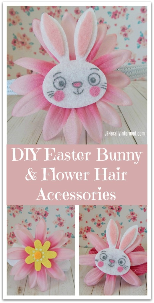 Learn how to make your own adorable #EasterBunny and flower #hair #accessories!