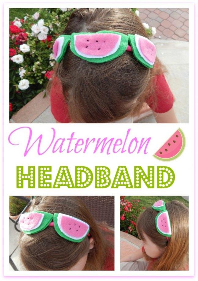 Make summer fabulous with a #DIY #watermelon headband! #crafts #summer