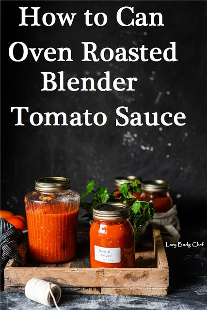 How to Make and Can Oven Roasted Tomato Sauce the Easy Way from The lazy Budget Chef.