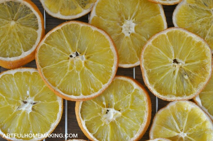 How to Make Oven Dried Orange Slices from Artful Homemaking.