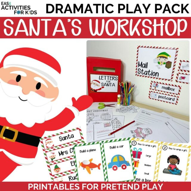 Christmas Dramatic Play Pack Santa's Workshop From Easy Activities For Kids.