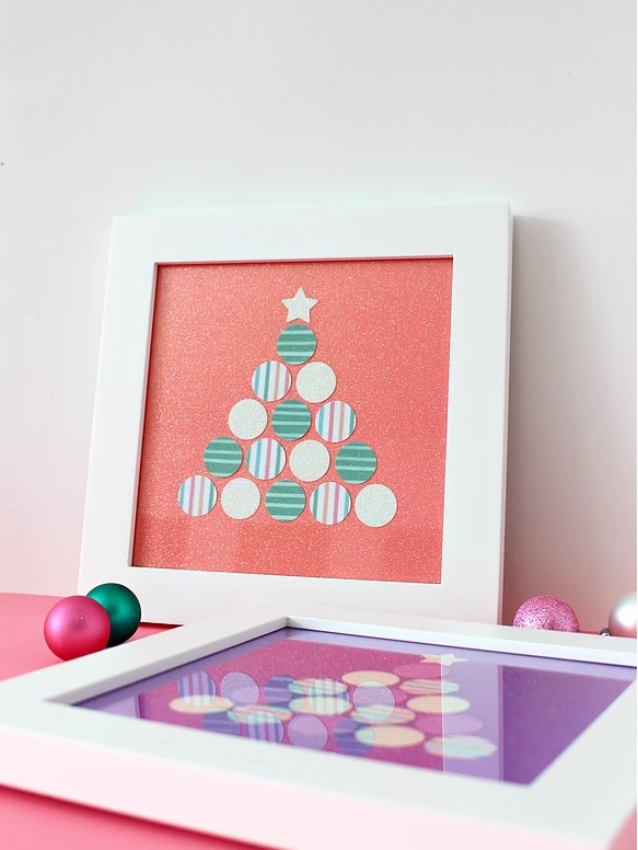 Paper Punched Christmas Tree Art From White House Crafts.