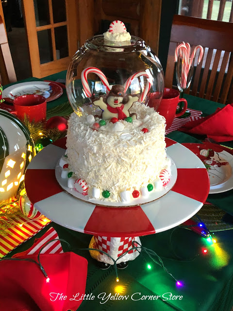 Holly Jolly Snowman Globe Cake from The Little Yellow Corner Store.