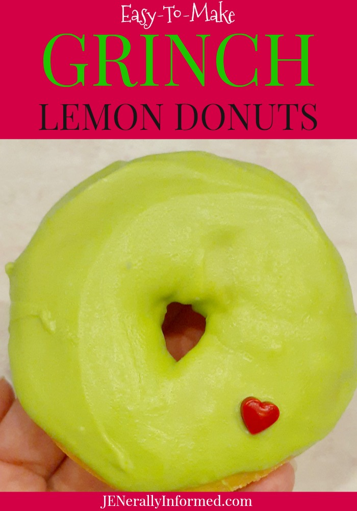 Easy to make #Grinch lemon donuts that will make your heart happy!