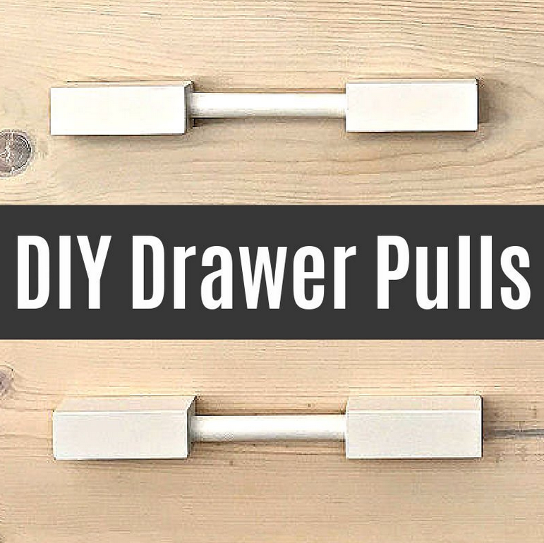 Easy DIY Wooden Drawer Pulls with Dowel Rods from Abbotts At Home.