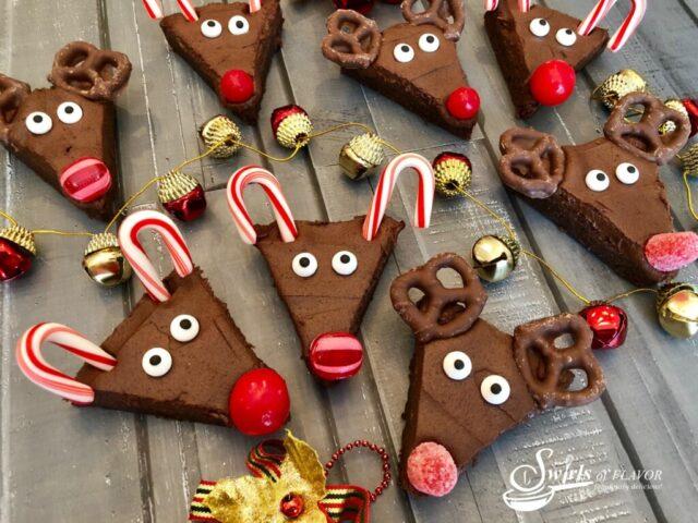 Christmas Reindeer Brownies from Swirls of Flavor.