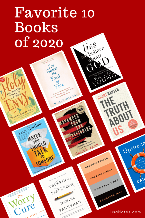 Favorite 10 Books of 2020 from Lisa Notes.