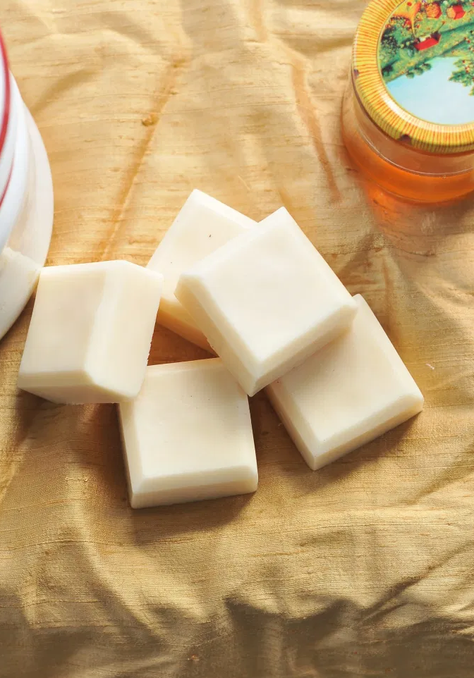 DIY: Make Your Own Super Easy Honey Soap from Kiku Corner.