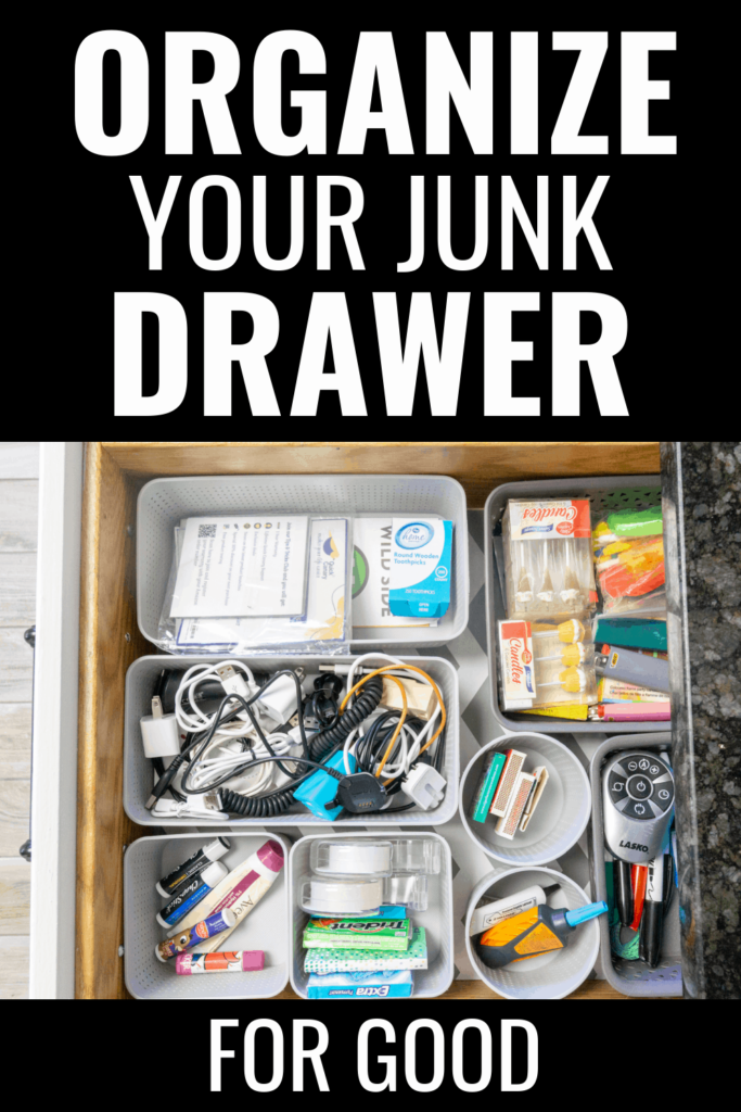 How To Organize The Junk Drawer For Good from Health, Home & Heart.
