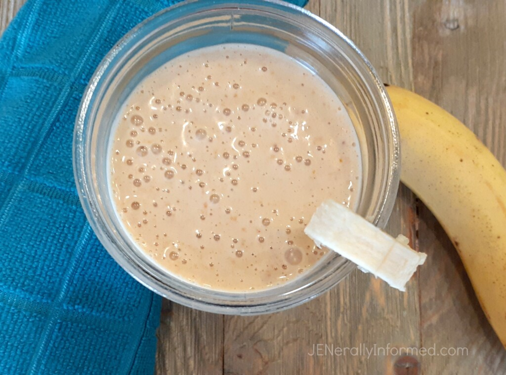 Here's how to rock your morning with an easy to make delicious peanut butter and banana smoothie!