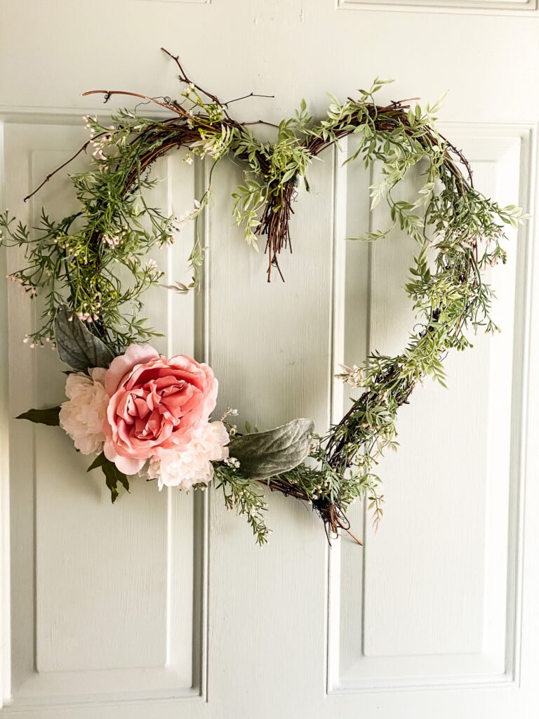 How To Make A Grapevine Heart Wreath from Cottage On Bunker Hill.