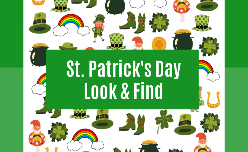 Grab your FREE St. Patrick's day printable look & find today!