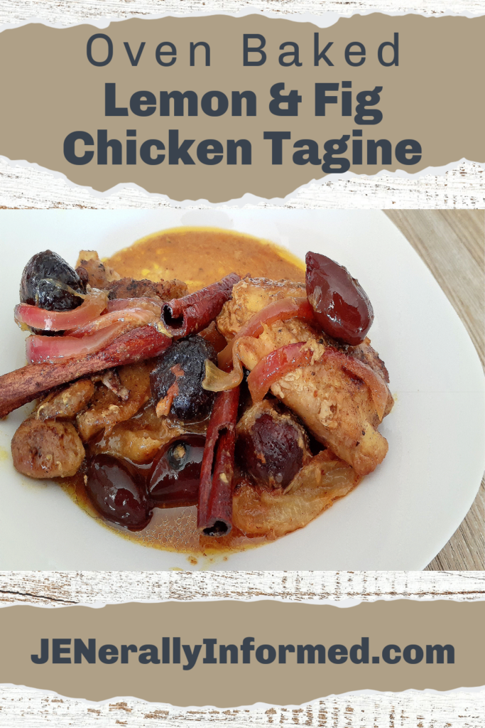 Learn how to easily make-at-home your own delicious oven-baked lemon & fig chicken tagine!