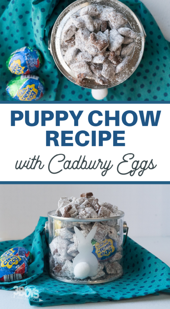 Fast and Simple Cadbury Creme Egg Puppy Chow from 3 Boys and a Dog.