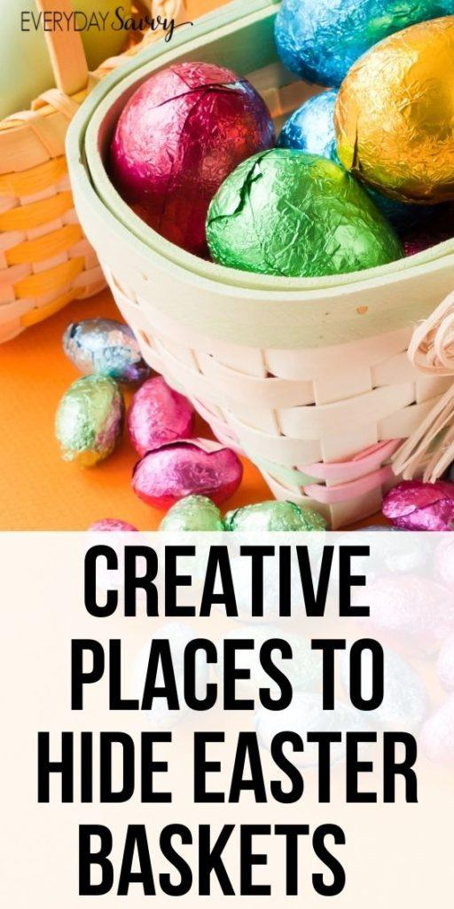 Creative Places to Hide Easter Baskets by Everyday Savvy