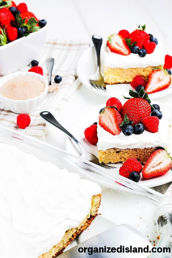 Tres Leches Cake Recipe from Organized Island.