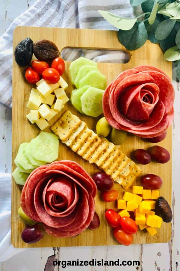 Salami Roses from Organized Island.