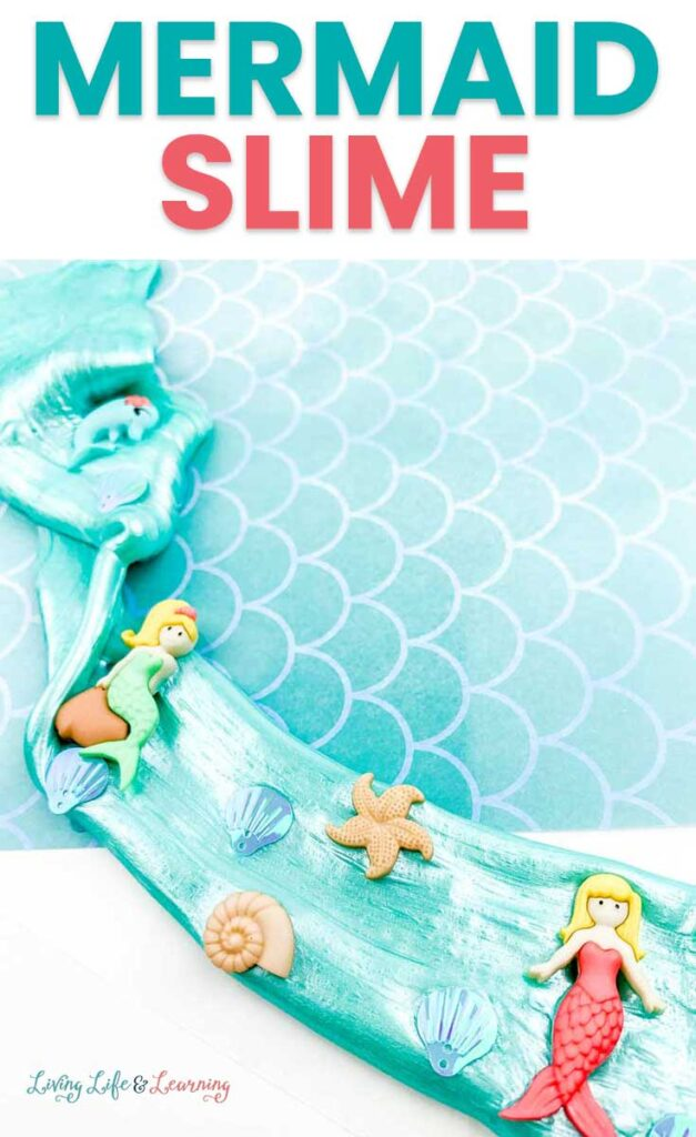 Mermaid Slime Recipe from Living Life & Learning.