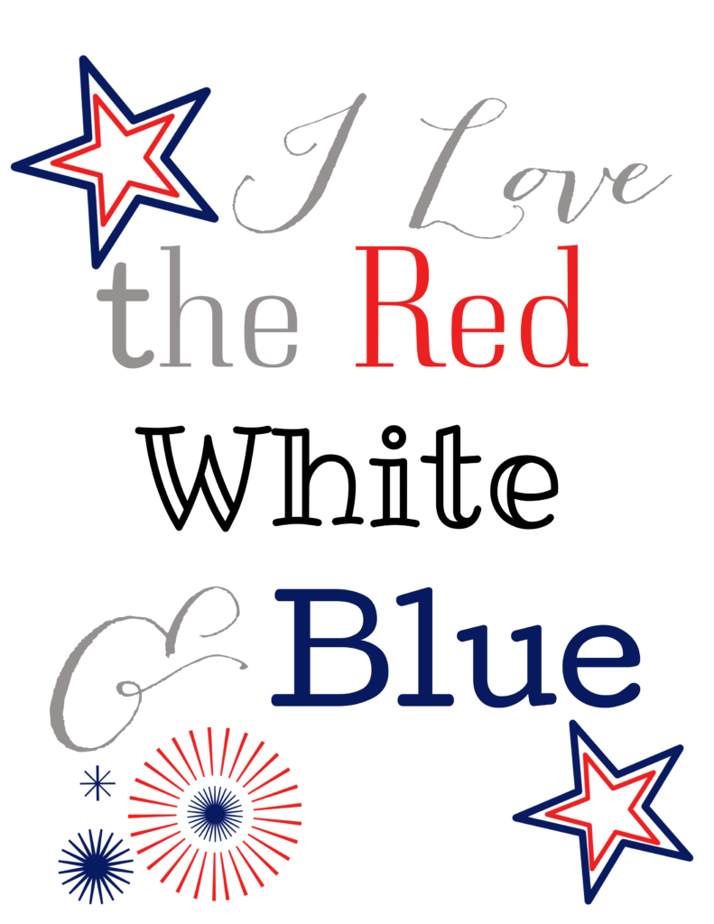 It's time to celebrate! Grab this FREE and adorable #4thofjuly printable! #redwhiteandblue #printables
