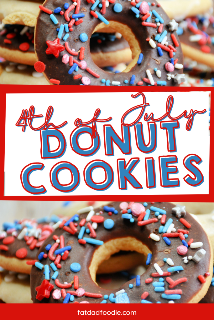 4th of July Donut Cookies from Fat Dad Foodie.
