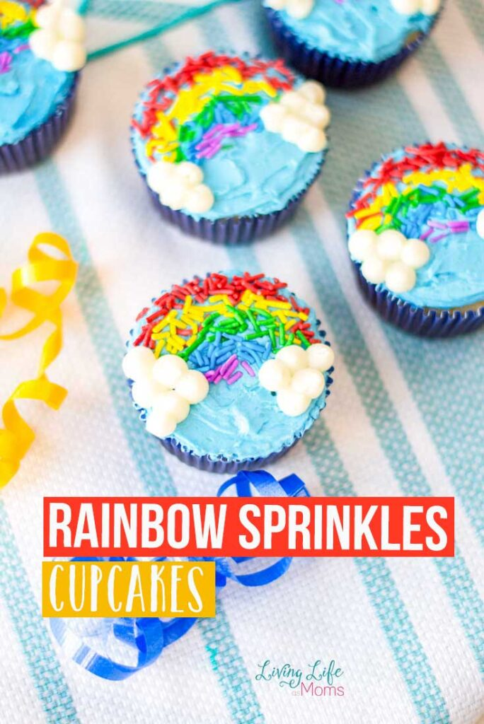 Rainbow Sprinkles Cupcakes from Living Life as Moms.