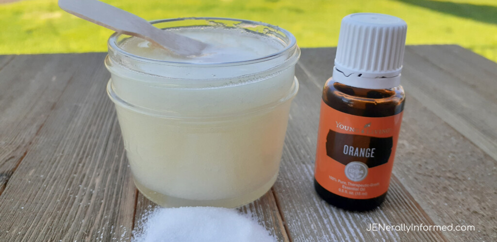 Is the summer making your skin feel dried out and scaly? Learn how to DIY your own Orange #essentialoil sugar scrub to nourish and hydrate!