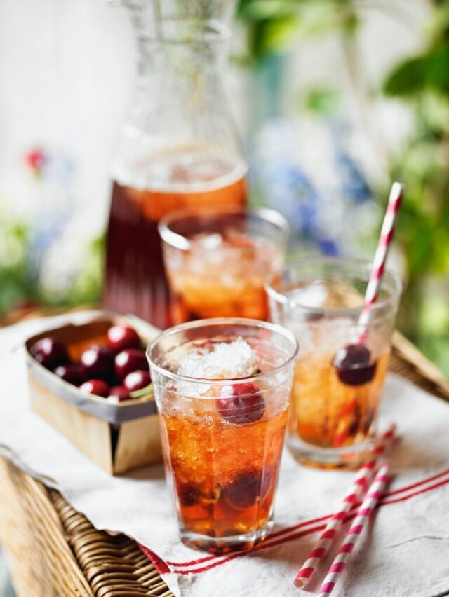 Cherry Pimm's Punch: Great For Summer Nights & BBQ's from Claire Justine.