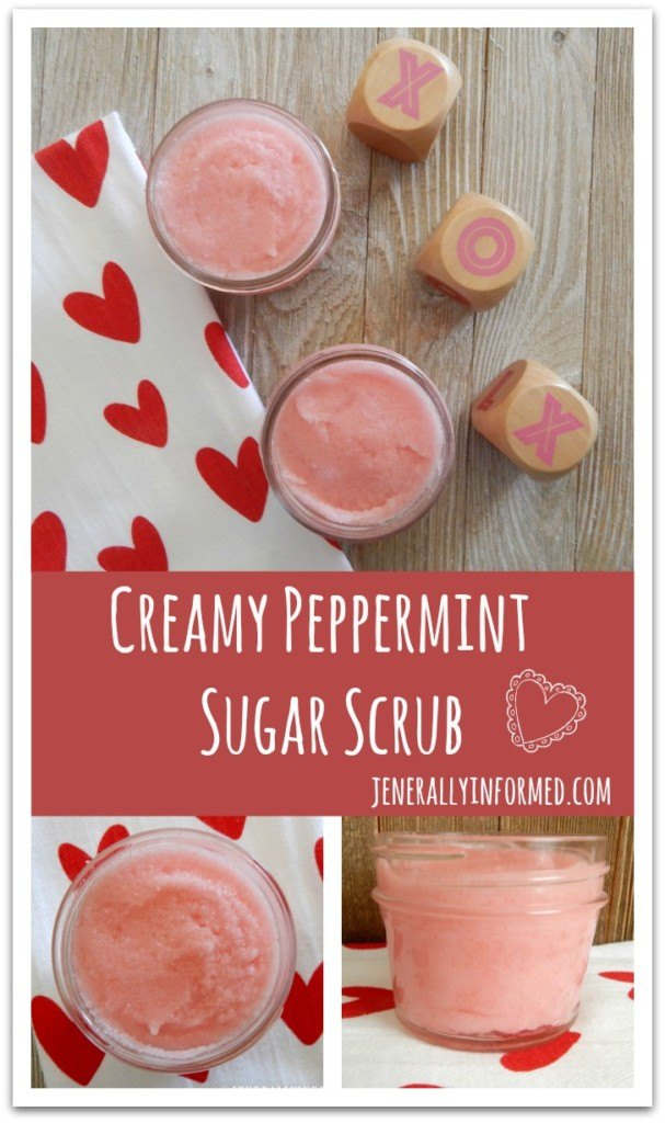 Pamper yourself and make your own dreamy, creamy peppermint sugar scrub!