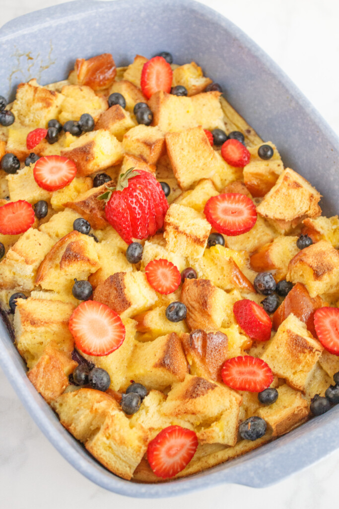 Brioche French Toast Casserole from The Happy Mustard Seed.