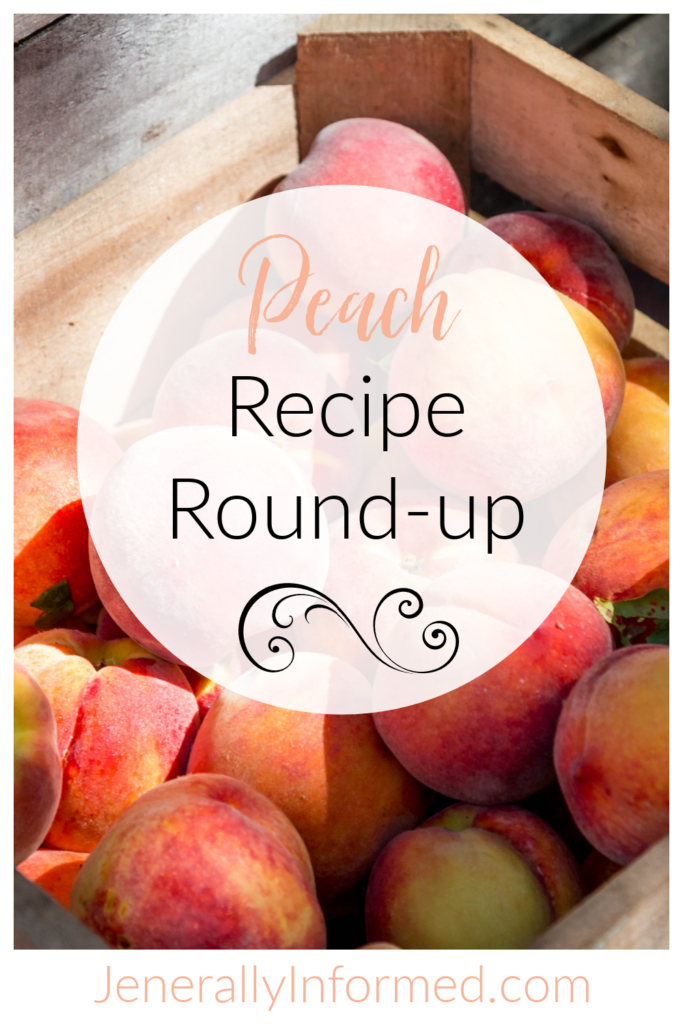 It's peach season! Here are 4 deliciously easy recipes using those golden, ripe peaches in jam, as a smoothie pop, and in strudel and cobbler!