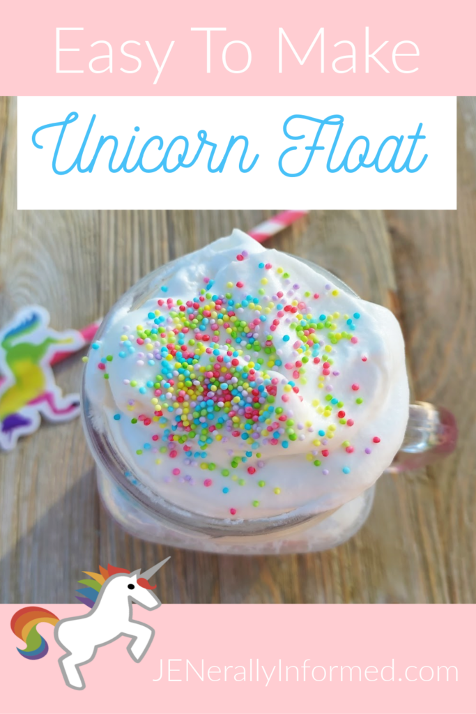 Make the unicorn lover in your life this delicious and easy to make unicorn float!