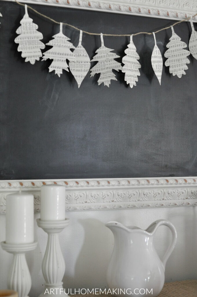 How to Make a Fall Leaf Book Page Garland from Artful Homemaking.