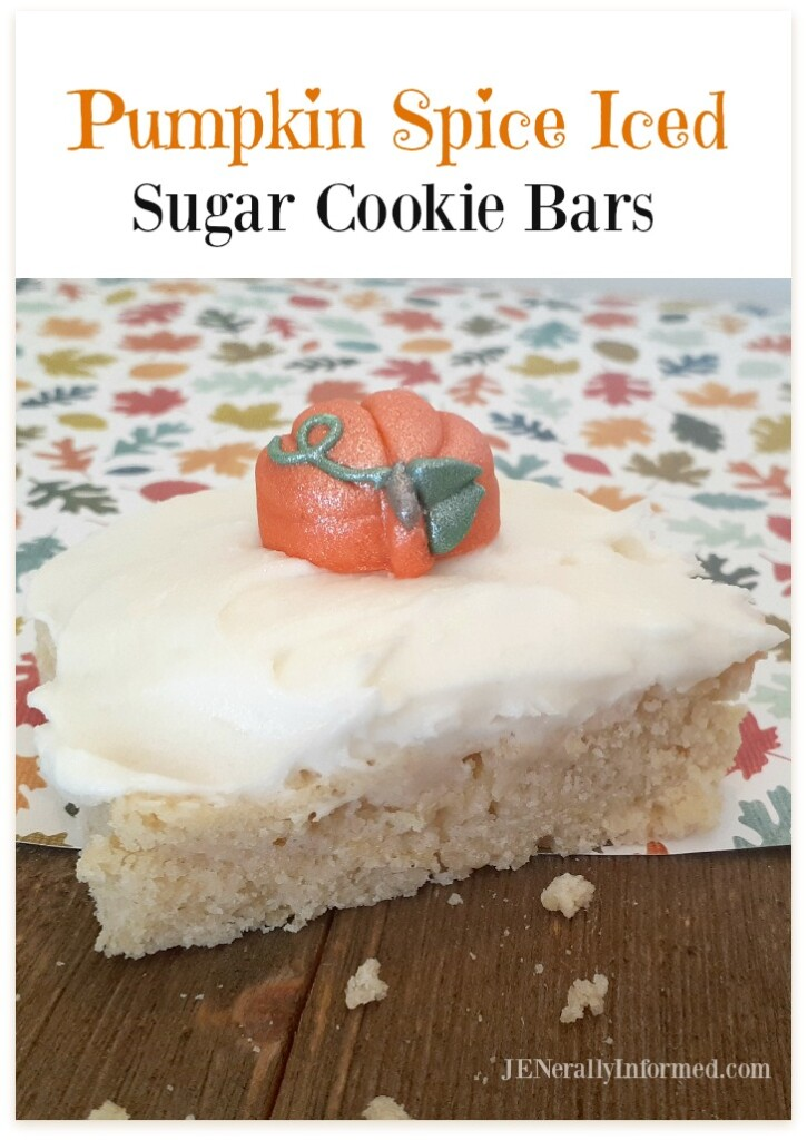 Here's how to make your own delicious Pumpkin Spice Iced Sugar Cookie Bars that even the toughest of pumpkin spice naysayers will love!
