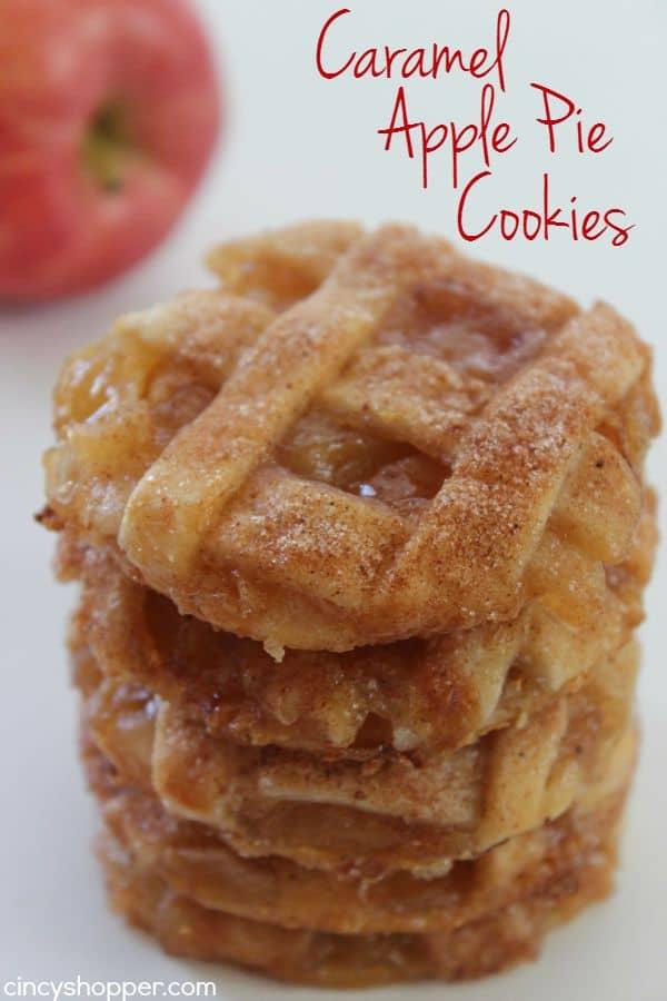 Caramel Apple Pie Cookies from Cincy Shopper.