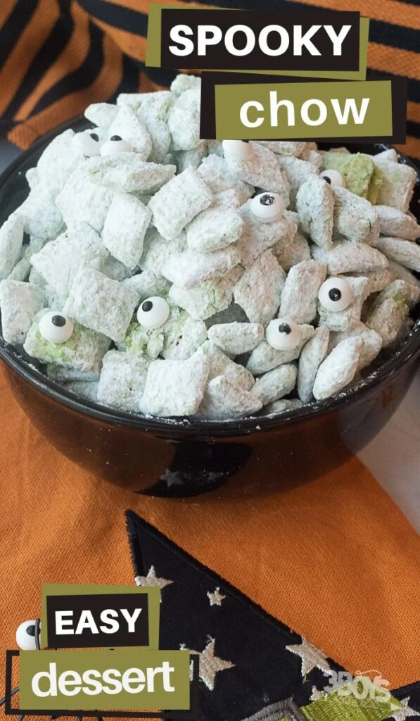 Halloween Puppy Chow Recipe from 3 Boys and a Dog.